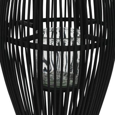 vidaXL Hengelanterne for stearinlys bambus svart 60 cm