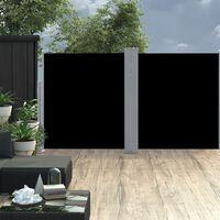 vidaXL Uttrekkbar sidemarkise svart 160x600 cm