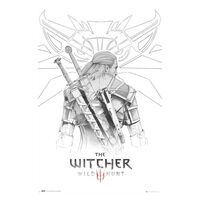 The Witcher 3, Maxi Poster - Geralt Sketch