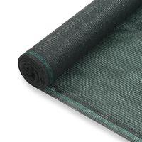 vidaXL Tennisskjerm HDPE 1,4x100 m grønn