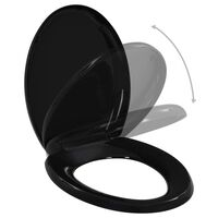 vidaXL Toalettsete med soft-close og hurtigfeste svart