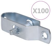 vidaXL Gjerdetrådstrammere 100 stk 90 mm stål sølv