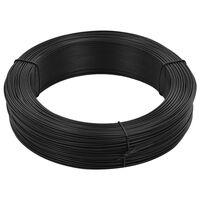 vidaXL Gjerdetråd 250 m 2,3/3,8 mm stål antrasitt