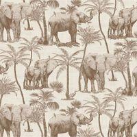 DUTCH WALLCOVERINGS Veggpanel Elephant Grove beige