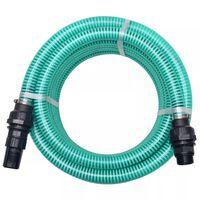 vidaXL Sugeslange med messingkontakter 4 m 22 mm grønn