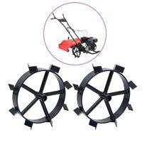 vidaXL Metallhjul for 6,5 HK bensindrevet hagefreser 2 stk