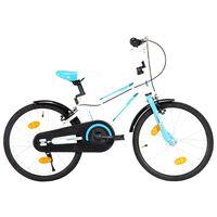 vidaXL Barnesykkel 18 tommer blå og hvit