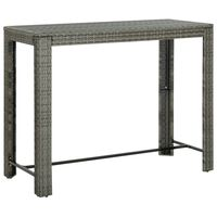 vidaXL Utendørs barbord grå 140,5x60,5x110,5 cm polyrotting