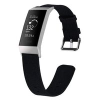Fitbit Charge 3 Armbånd lerret svart - L