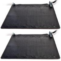 Intex Solvarmematte 2 stk PVC 1,2x1,2 m svart 28685