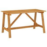 vidaXL Utendørs spisebord 140x70x73,5 cm heltre akasie