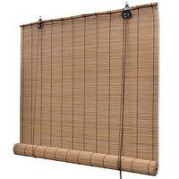 vidaXL Rullegardin bambus 80x220 cm brun