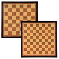 Abbey Game Sjakk- og dambrett 41x41cm tre brun og beige