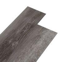 vidaXL PVC gulvplanker 4,46 m² 3 mm selvklebende stripet tre