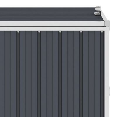 vidaXL Trippelt søppeldunkskur antrasitt 213x81x121 cm stål