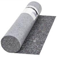 vidaXL Sklisikker malematte 50 m 280 g/m² grå