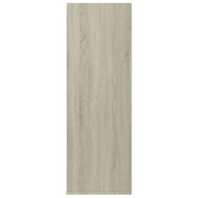 vidaXL Skohylle hvit og sonoma eik 54x34x100 cm sponplate