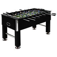 vidaXL Fotballbord stål 60 kg 140x74,5x87,5 cm svart