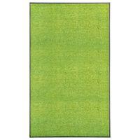 vidaXL Dørmatte vaskbar grønn 90x150 cm