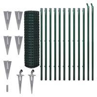 vidaXL Euro gjerde stål 25 x 1,5 m grønn