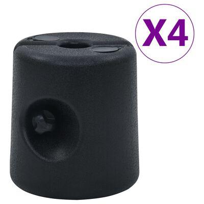 vidaXL Lysthusvekter 4 stk PE svart