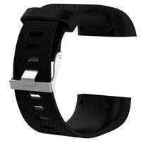 Klokkerem kompatibel med Fitbit Surge, Svart - L