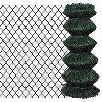 vidaXL Nettinggjerde stål 0,8x15 m grønn