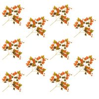 vidaXL Kunstige drueblader 10 stk rød 70 cm