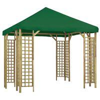 vidaXL Paviljong 3x3 m grønn