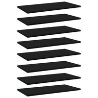 vidaXL Hylleplater 8 stk svart 60x30x1,5 cm sponplate