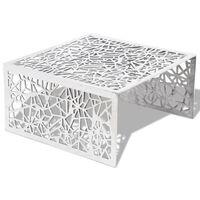 vidaXL Salongbord geometrisk åpent design aluminium sølv