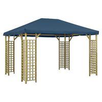 vidaXL Paviljong 4x3 m blå