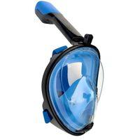 Full maske cyclop med snorkel og GoPro-feste - blå / svart - S / M
