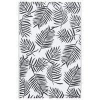 vidaXL Uteteppe hvit og svart 160x230 cm PP
