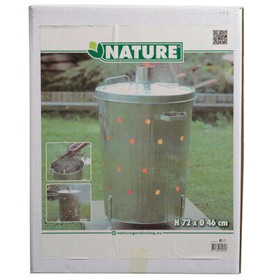 Nature Hageforbrenningsovn galvanisert stål 46x72 cm rund