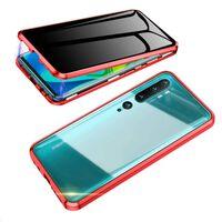 Mobilt deksel med tosidig herdet glass til XiaoMi CC9 PRO - Rød