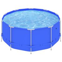 vidaXL Svømmebasseng med stålramme 367x122 cm blå