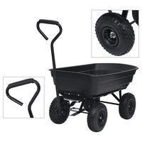 vidaXL Garden Tipping Hand Cart 300 kg 75L Black