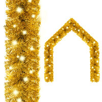 vidaXL Julekrans med LED-lys 20 m gull