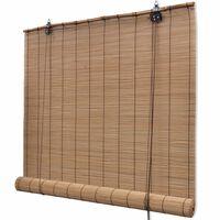 vidaXL Rullegardin bambus 140x220 cm brun