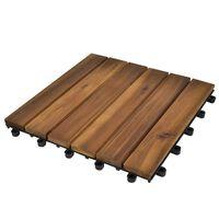 Terrassebord 30 x 30 cm Akasie Sett med 20