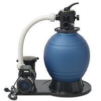 vidaXL Sandfilterpumpe 1000 W 16800 l/t XL