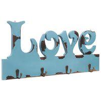 vidaXL Veggmontert garderobepanel LOVE 50x23 cm