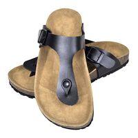 vidaXL Biokork sandaler kvinner flippflopp-design svart størrelse 38