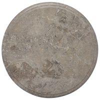 vidaXL Bordplate grå Ø40x2,5 cm marmor