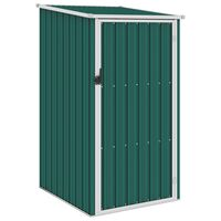 vidaXL Hageskur grønn 87x98x159 cm galvanisert stål