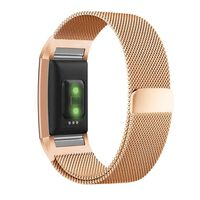 Fitbit Charge 2 armbånd milanesisk loop - Rosegull - S