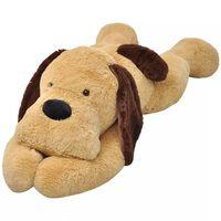 vidaXL Lekehund i plysj brun 120 cm