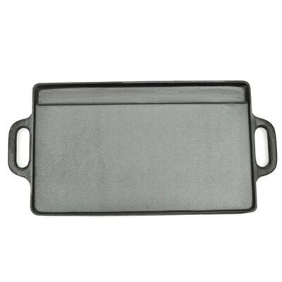 vidaXL Grillplate i støpejern 38x23 cm vendbar 2 stk