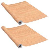 vidaXL Selvklebende folier til dør 2 stk 210x90 cm PVC lønnetre